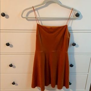 Urban Outfitters Orange Suede Dress